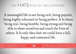 Rule of a relationship