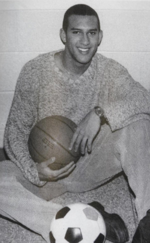 Tim Howard, posing in a yearbook photo, was named most athletic in his ...