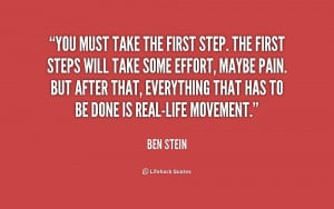 Take The First Step Quote