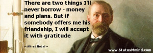 ... will accept it with gratitude - Alfred Nobel Quotes - StatusMind.com