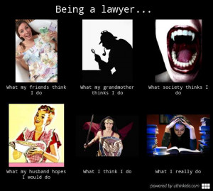 Being a lawyer What people think I do What I really do