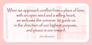 when we approach conflict...