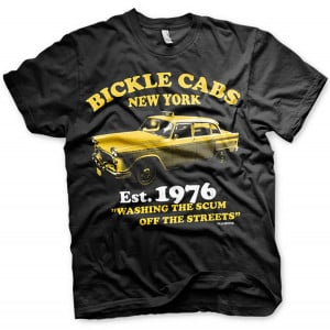 Taxi Driver Mens T Shirt - Bickle Cabs