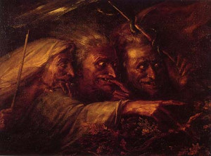 Alexandre-Marie Colin. The Three Witches from