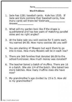 math worksheet : fourth grade math petition problems  worksheets for kids  : Math Problem Worksheets For 4th Graders