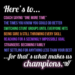 Back > Quotes For > Teamwork Quotes For Cheerleading