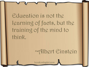 Albert Einstein quote on education