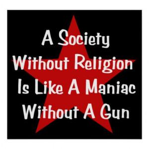 Anti-Religion Quote Print