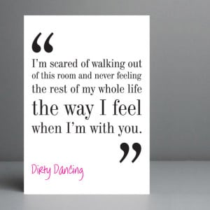 Dirty Dancing Love Quotes: Popular Items For Dance Quote On Etsy ...