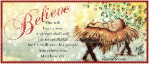 Believe Christmas Baby Jesus Free Printable