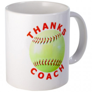 ... Softball Image With The Words Mugs > Softball Coach Thank You Unique