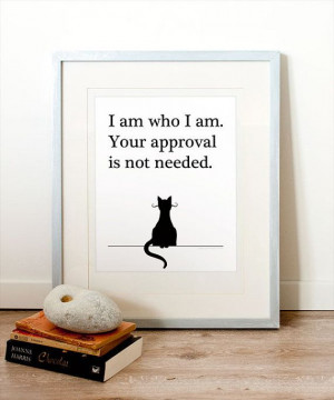 Quote - typography, printable art, cat lovers, funny quotes, cat ...