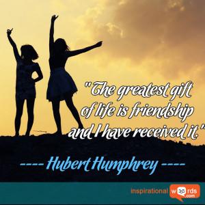 Inspirational Wallpaper Quote by Hubert Humphrey
