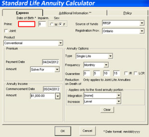 of the annuity calculator we use to obtain updated annuity quotes ...