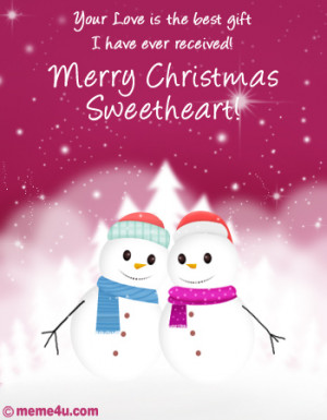 best christmas gift, romantic christmas ecard, romantic christmas card