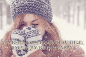 person can look beautiful Simply By Being Happy ~ Beauty Quote