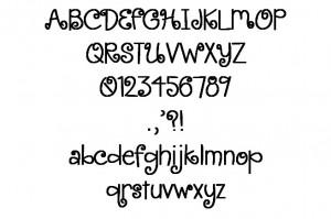 Curl Font 1.5 inch