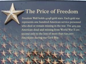 National World War II Memorial Photo: Freedom wall explanation