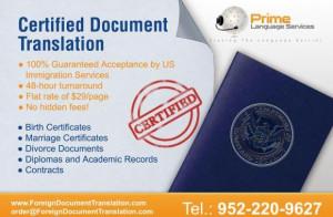 Foreign Document Translation
