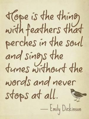 quote about hope by Emily Dickinson
