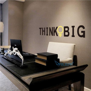 THINK BIG Vinyl Wall Stickers Quotes Removable Decorative Decals