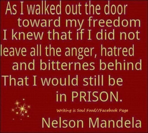 Don't live in a prison of anger... Let go and live happy.