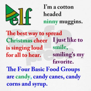 Buddy The Elf Funny Quotes | Elf the Movie Quotes Baseball Jersey by ...