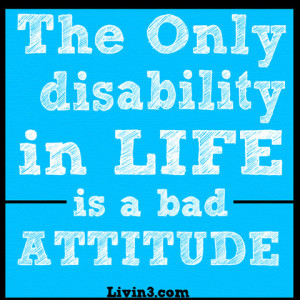 The Only Disability...