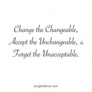 ... the Unacceptable - black and white graphic quotes by Eco Gentleman