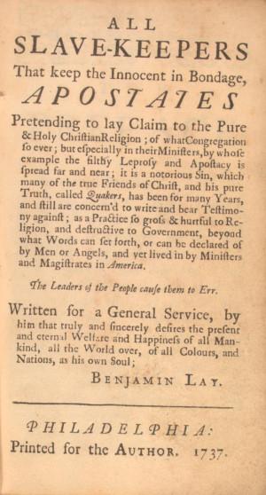 für Wilberforce und Konsorten viel zu radikal: Ein Text von Benjamin ...