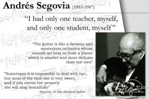Few Quotes Andres Segovia The Legendary Classical Guitarist