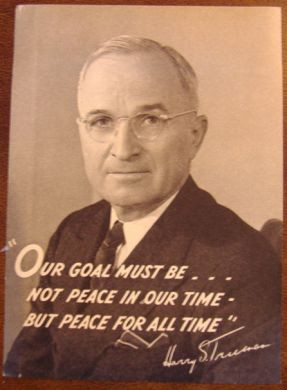 1948 Large Harry Truman Photo Decal