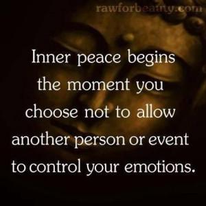 Inner strength = inner peace. Duh.