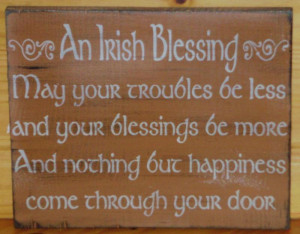 Irish Blessings Primitive Signs Christmas wedding gifts inspirational ...