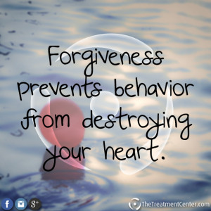 Forgiveness prevents behavior from destroying your heart.