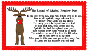 The Legend of Magical Reindeer Dust Printable Download