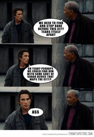 Funny photos funny Christian Bale Morgan Freeman Batman
