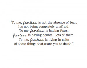 fearless quote on Tumblr