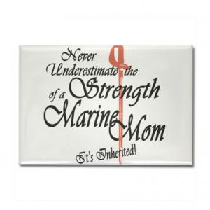 Marine Mom Rectangle Magnet