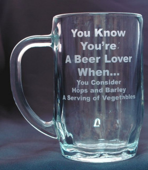 personalized beer mug with funny sayings and engraved name