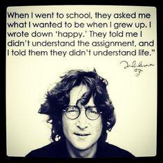 John Lennon. Be happy #motto More