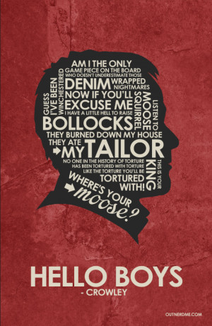 SuperNatural - Crowley Quote Poster - Supernatural Quotes Fan Art ...