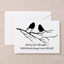 Friends In Your Heart Quote Cute Birds On Branch Q for