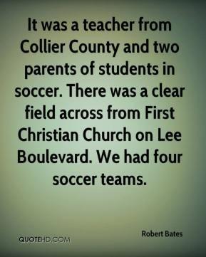 ... First Christian Church on Lee Boulevard. We had four soccer teams