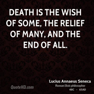 Lucius Annaeus Seneca Death Quotes