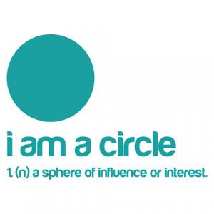 am a Circle Sticker