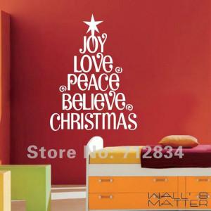 Joy, love, peace, believe Christmas