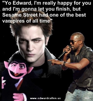 Funny image of Kayne west and Edward Cullen