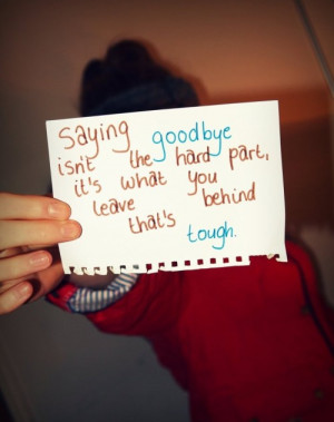 Sayings About Goodbye