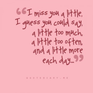 miss you, love, quote